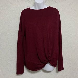 A New Day Small Maroon Tie Long Sleeve Sweater 🌴